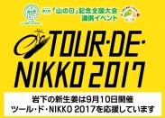 岩下の新生姜は「ツール・ド・NIKKO 2017」を応援しています