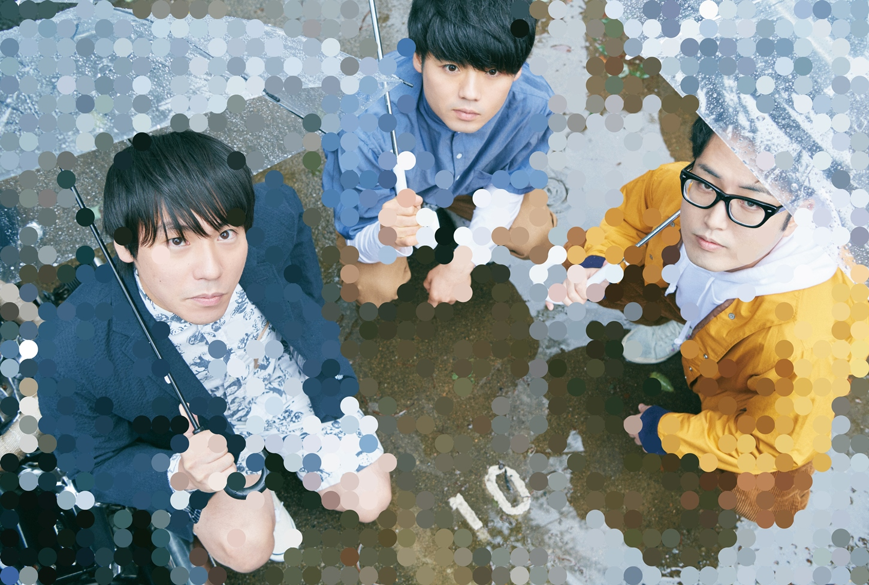 画像:3ピースギターロックバンド「SAKANAMON」。写真左から藤森元⽣(Vo/G)、森野光晴(B)、木村浩⼤(Dr)