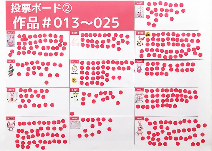 画像:デザインコンテスト投票ボード(1)作品#013~025
