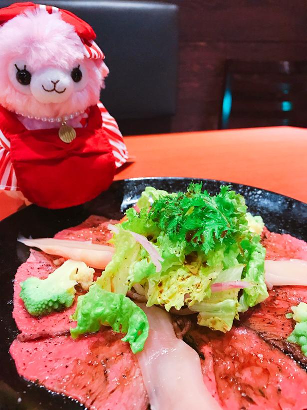 松阪牛ローストビーフ&岩下の新生姜カルパッチョ