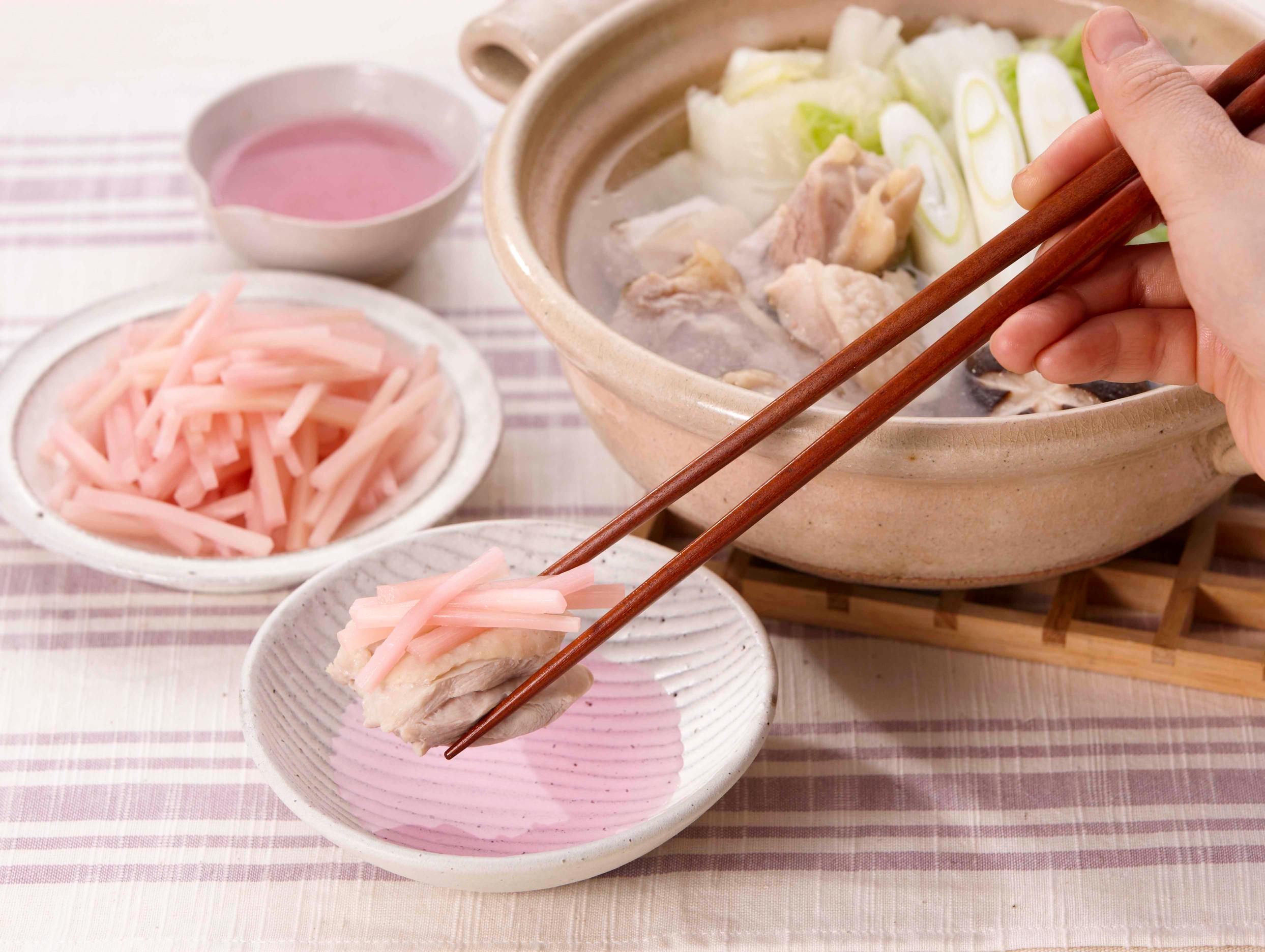 お鍋に「岩下の新生姜」(調理例)