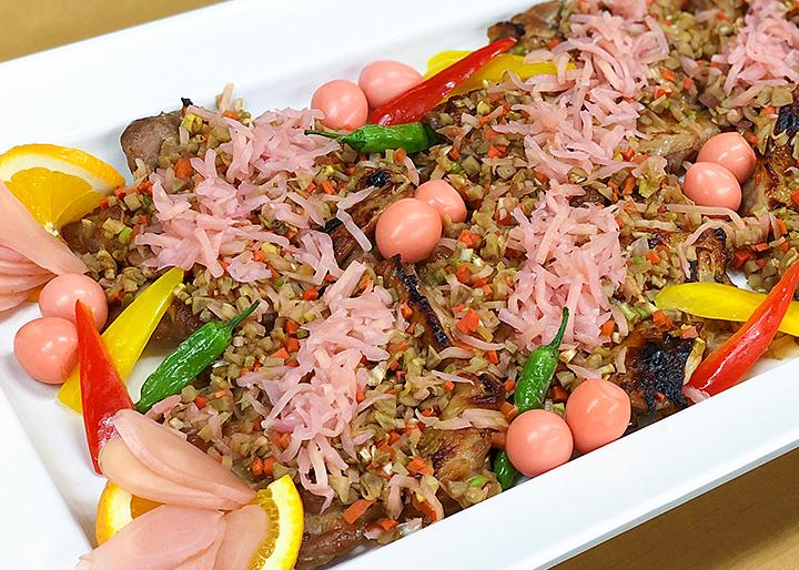 岩下の新生姜と鶏肉の根菜風味焼き