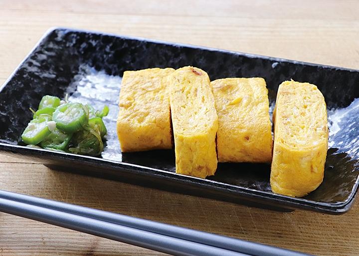 岩下の新生姜×マルトモ『かつおと生姜の浅炊き』調理例:卵焼き