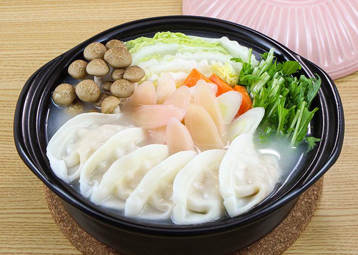 画像:おすすめレシピ「生姜餃子鍋」調理例