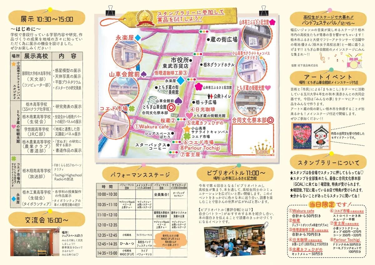 画像:第4回栃木市高校生合同文化祭パンフレット-2