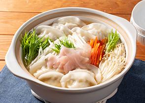 画像:【紀文コラボ】岩下の新生姜入りシャキシャキスープ餃子鍋