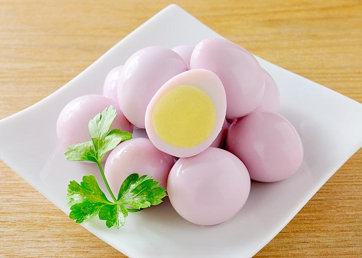 画像:調理例「うずら卵の岩下漬け」