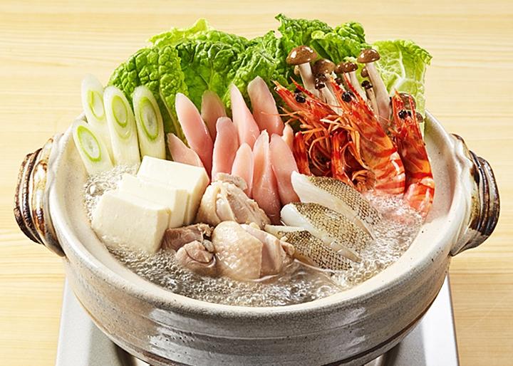 画像:『岩下の新生姜寄せ鍋スープ焼きあご仕立て』調理例