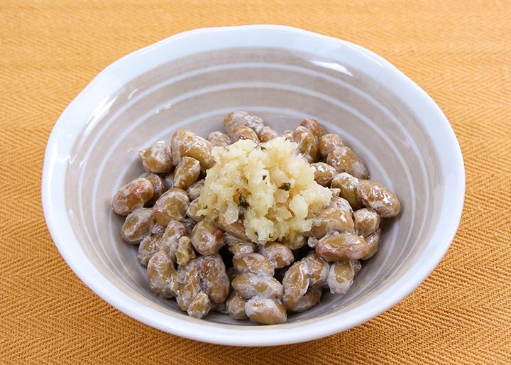 画像:「やみつき岩下の新生姜」盛付例-納豆