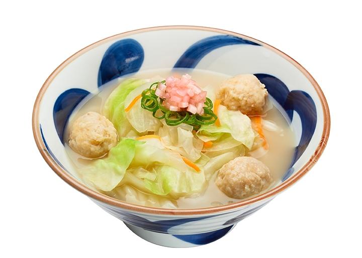 画像:『新生姜白湯うどん(温)』盛付イメージ