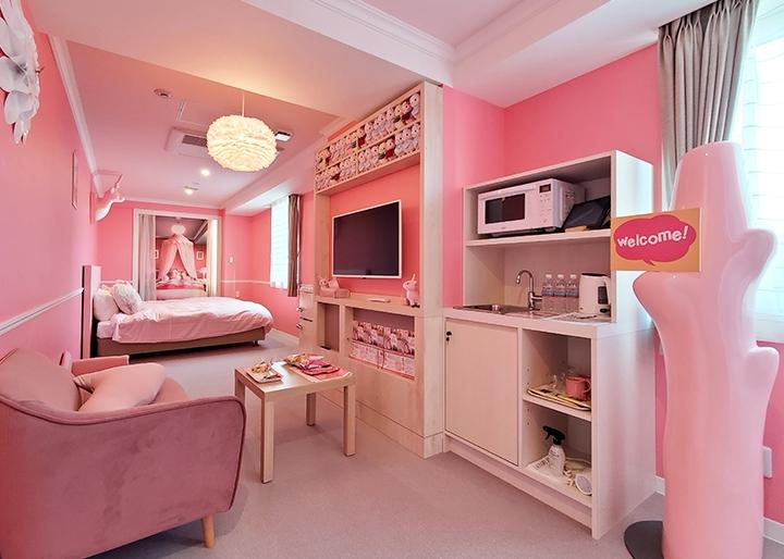 画像:岩下の新生姜コラボルーム『岩下の新生姜の部屋 ~New Ginger Room~』内装1