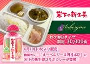 画像:3万食限定!オーベルジーヌ四谷本店で6月10日から岩下の新生姜コラボカレーを販売