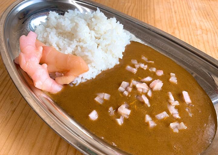 画像:かわはらすぱいす食堂の『岩下の新生姜カレー』