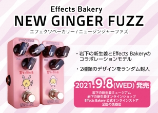 画像:岩下の新生姜とEffects Bakeryがコラボレーション!『NEW GINGER FUZZ』9月8日発売